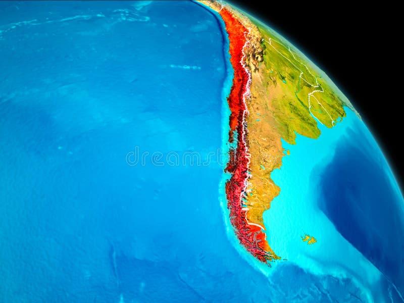 Chile en la tierra ilustración del vector