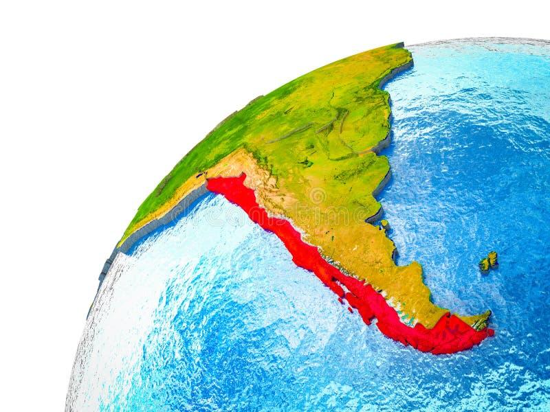 Chile en la tierra 3D stock de ilustración