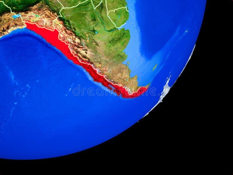 Chile en la tierra del espacio libre illustration