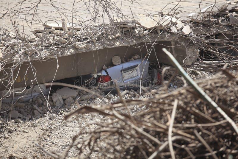Chile-Erdbeben-Schaden lizenzfreie stockfotografie