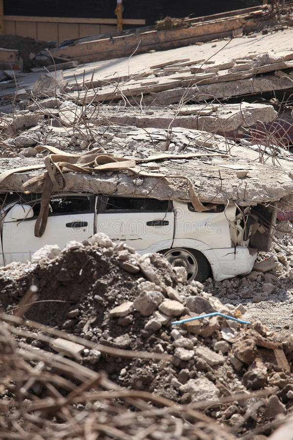 Chile-Erdbeben-Schaden lizenzfreies stockbild
