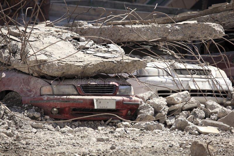 Chile-Erdbeben-Schaden stockbilder