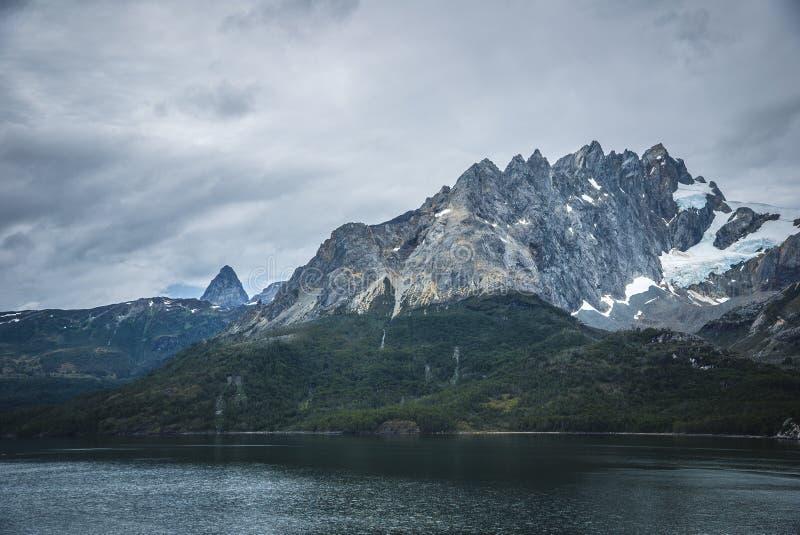 Chile Fjords i krajobrazy fotografia stock