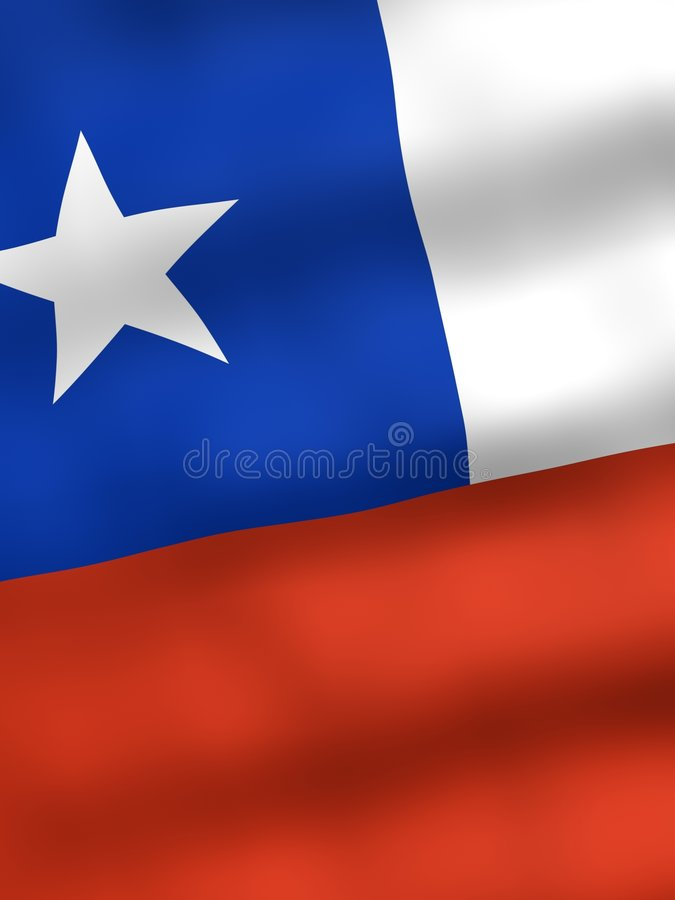 chile flagę royalty ilustracja