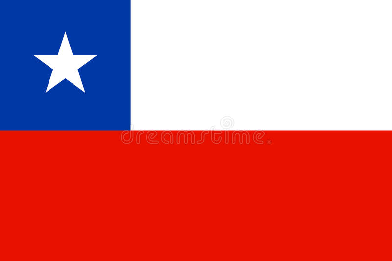 chile flagę ilustracji