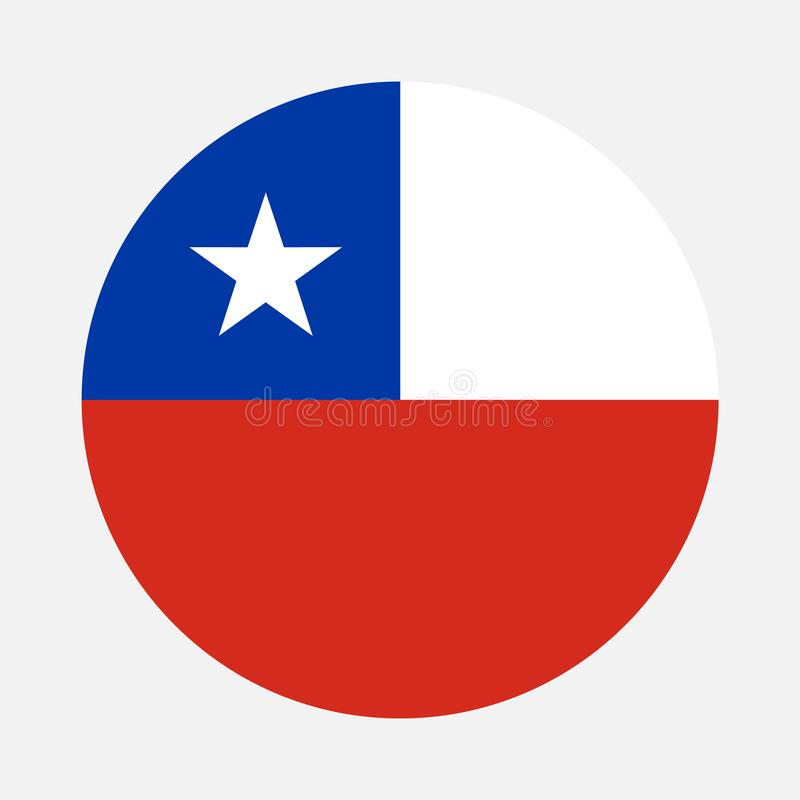 Chile flag circle. Vector image and icon stock illustration
