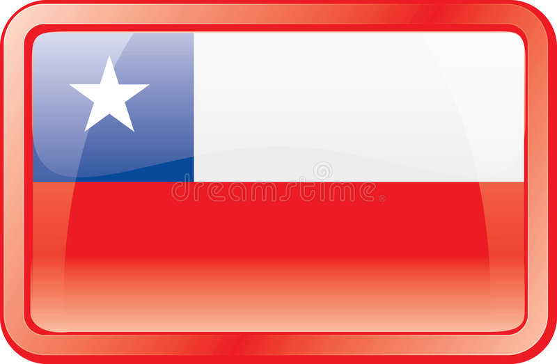 Chile Flag Icon stock image