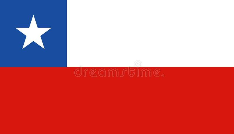 Chile flag icon in flat style. National sign vector illustration. Politic business concept vector illustration