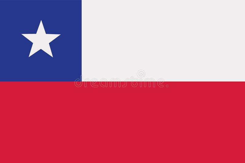 Chile flag vector. Chile flag country symbol vector royalty free illustration