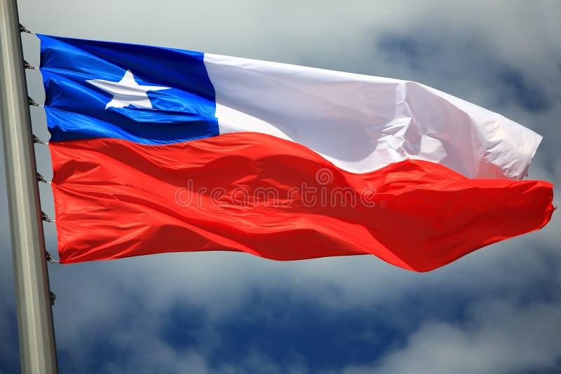 chile flagga royaltyfria foton