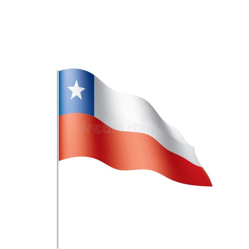 Chile-Flagge, Vektorillustration lizenzfreie abbildung