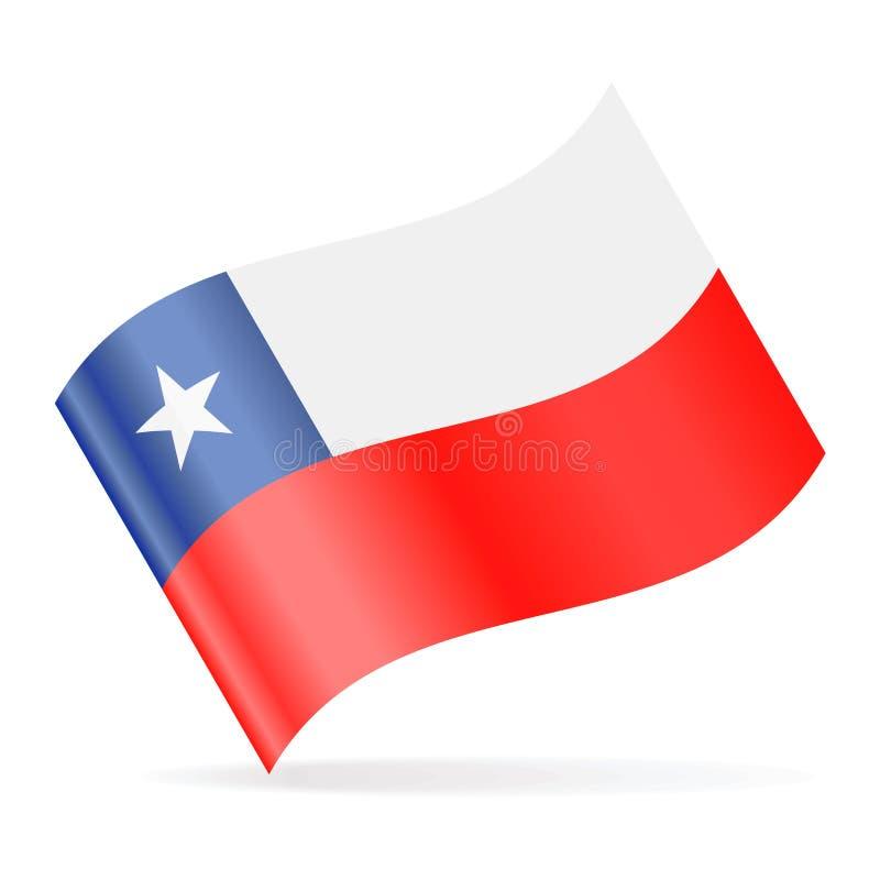 Chile-Flaggen-Vektor-wellenartig bewegende Ikone stock abbildung