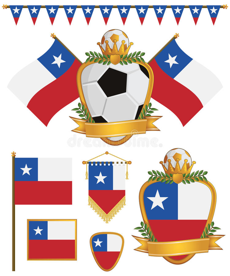 Download Chile flags stock vector. Image of emblem, american, banner - 28891249