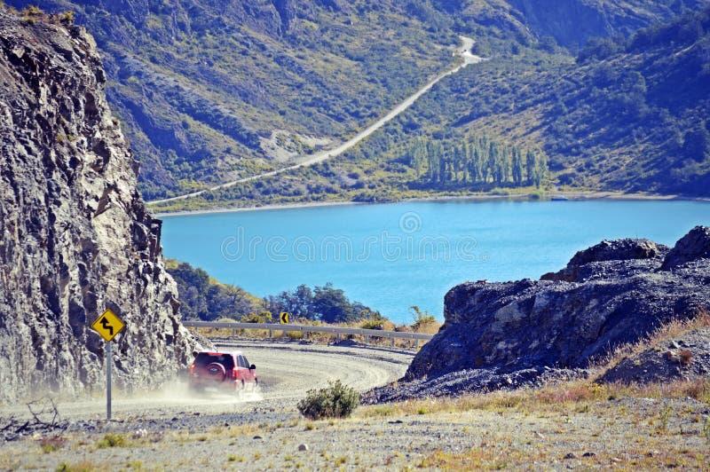 Chile general de la raza del lago austral road imagen de archivo
