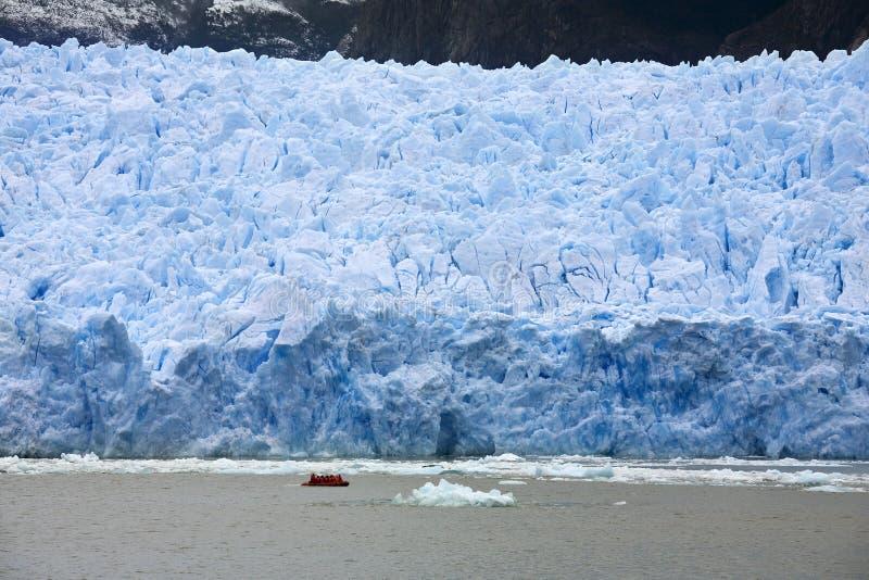 chile glaciärpatagonia rafael san arkivfoton