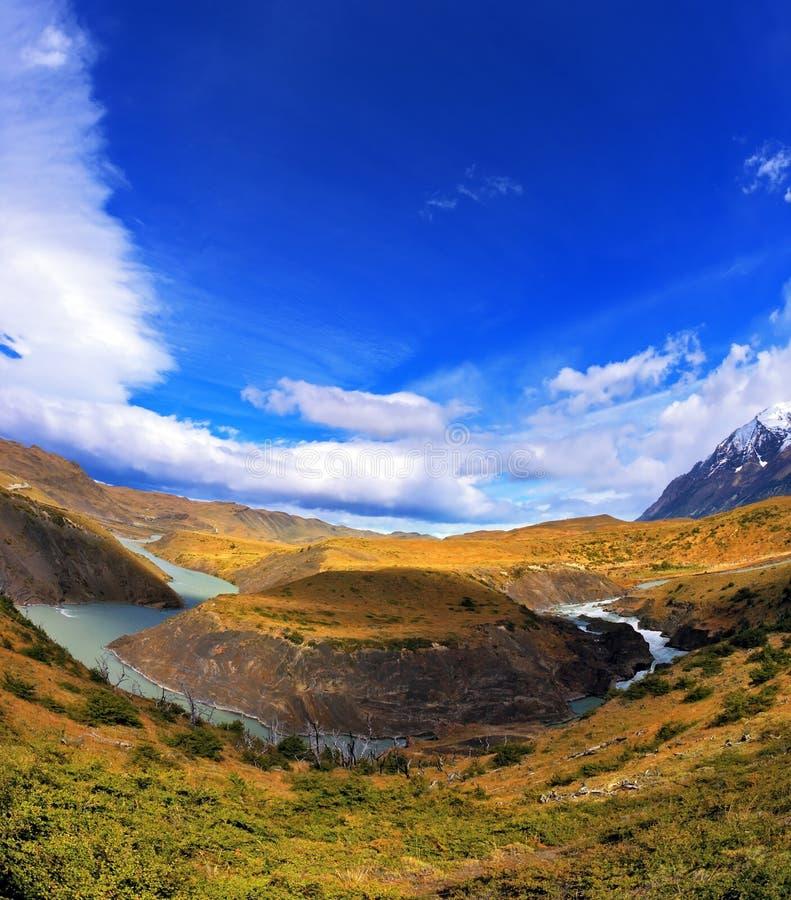 Chile hästsko Paine arkivbilder