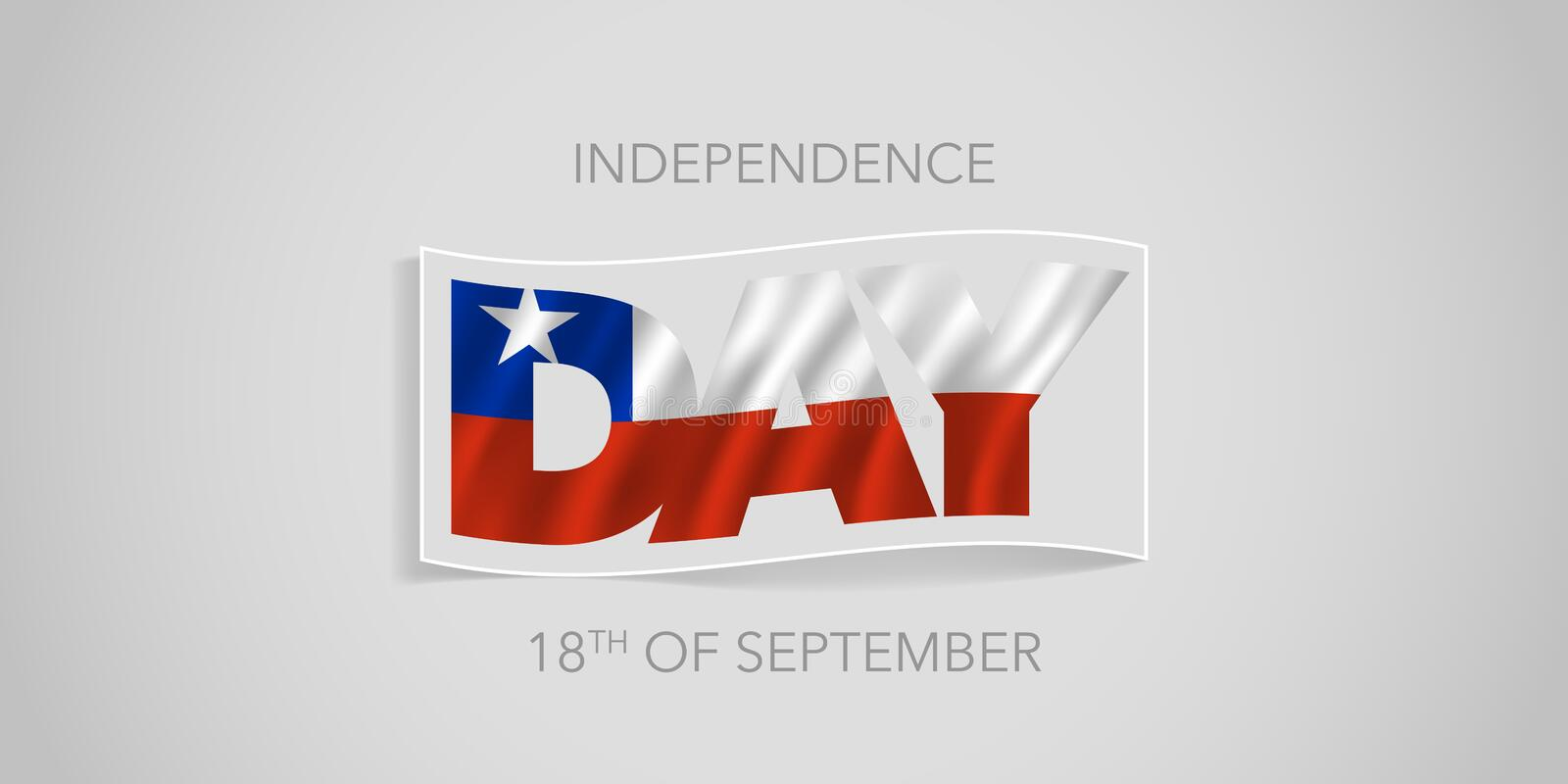 Chile happy independence day vector banner, greeting card. royalty free stock photo