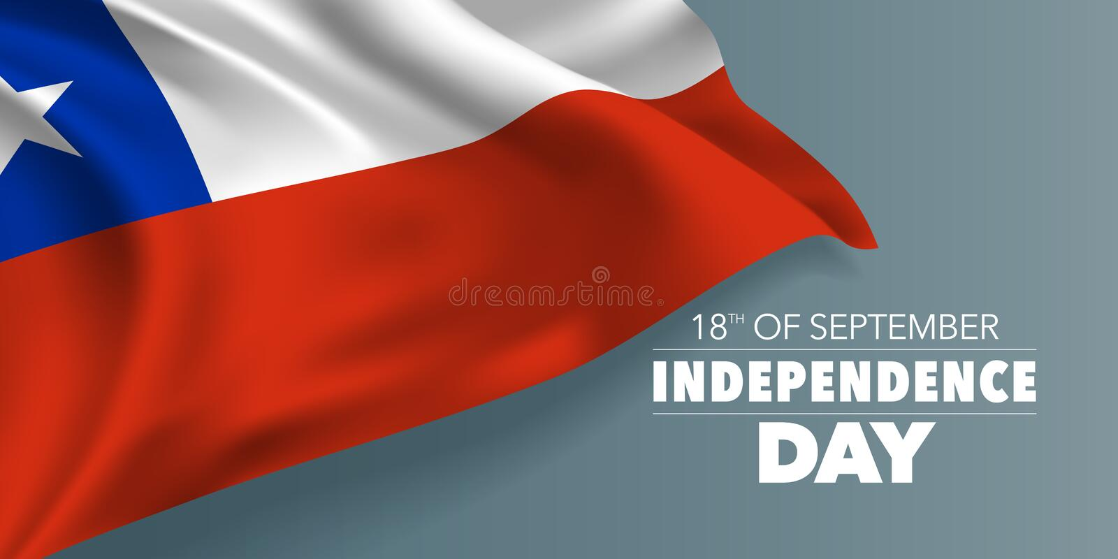 Chile independence day greeting card, banner with template text vector illustration royalty free stock photos