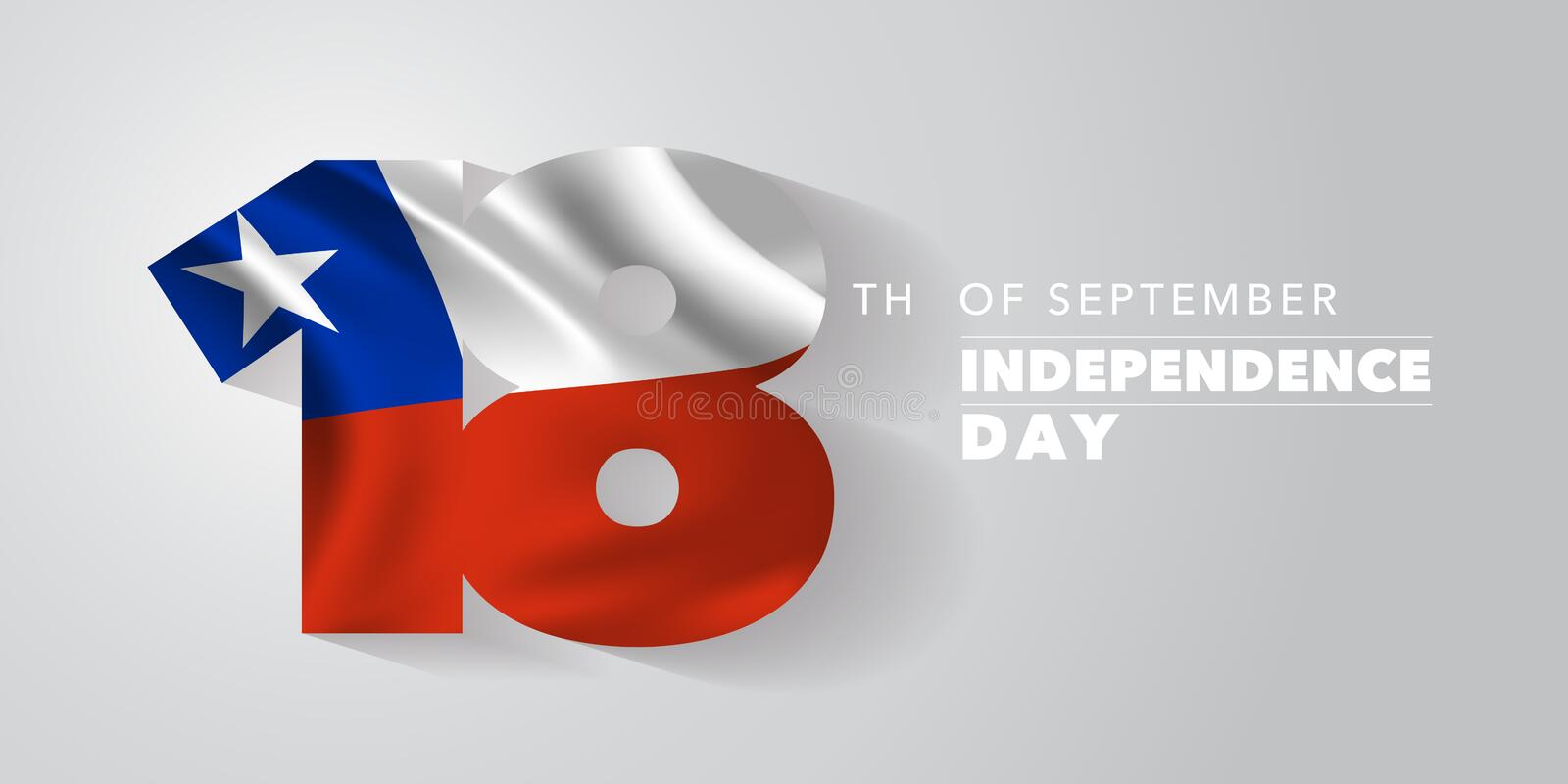 Chile independence day greeting card, banner, vector illustration stock photo