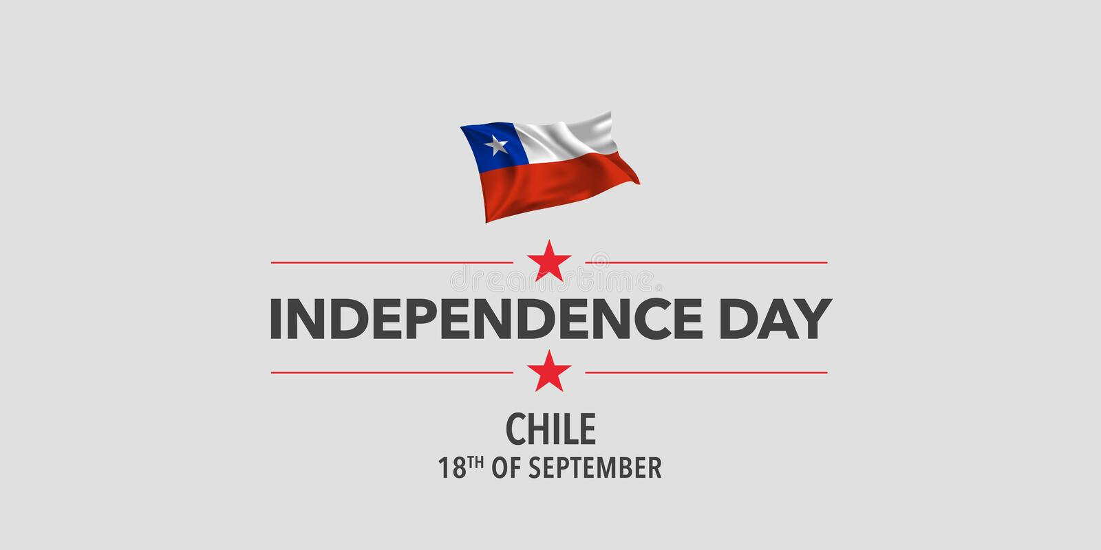 Chile Independence day greeting card, banner, vector illustration royalty free stock image