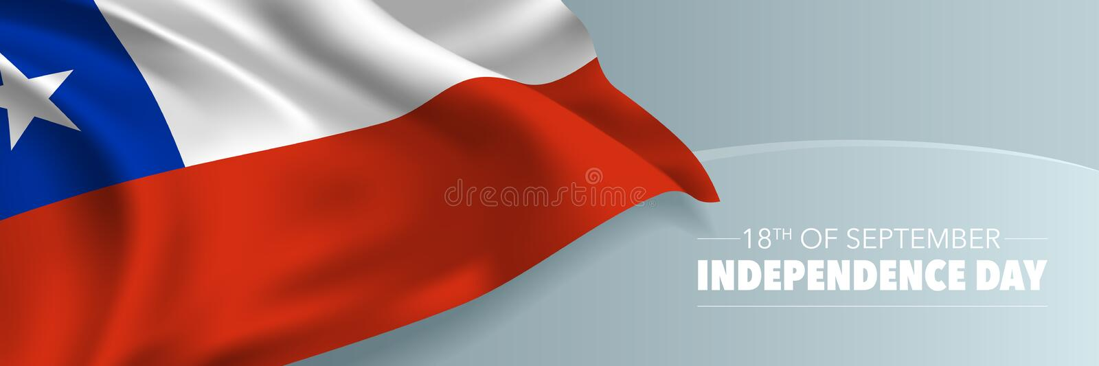 Chile independence day vector banner, greeting card stock photo