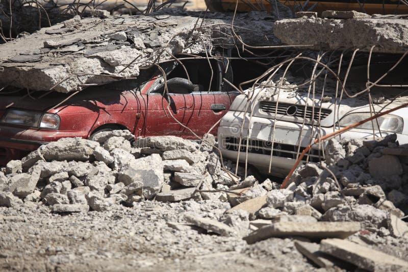 Chile jordskalvskada royaltyfri fotografi