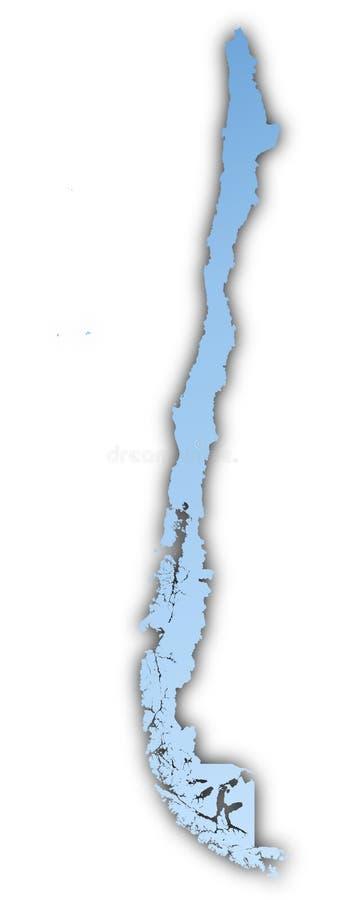 Chile-Karte lizenzfreie abbildung