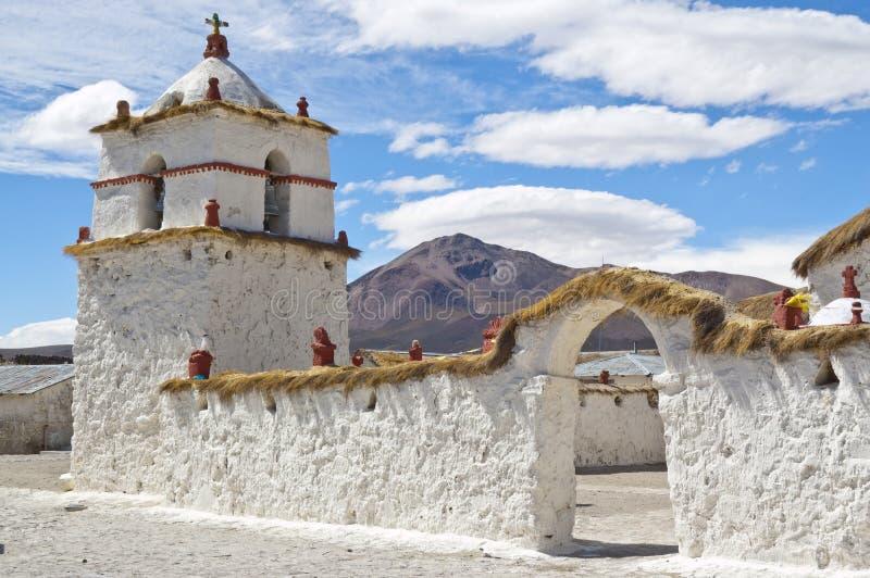 chile kościół parinacota fotografia royalty free