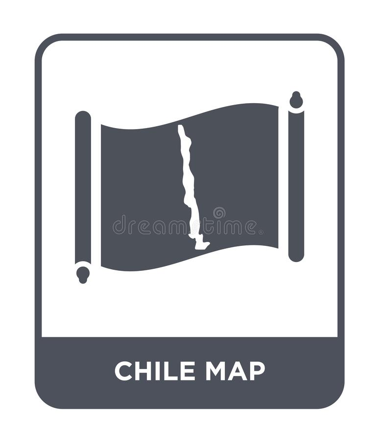 Chile map icon in trendy design style. chile map icon isolated on white background. chile map vector icon simple and modern flat. Symbol for web site, mobile royalty free illustration