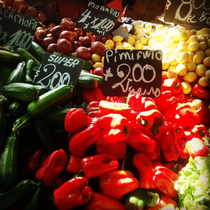 Chile market vegetables royalty free stock image