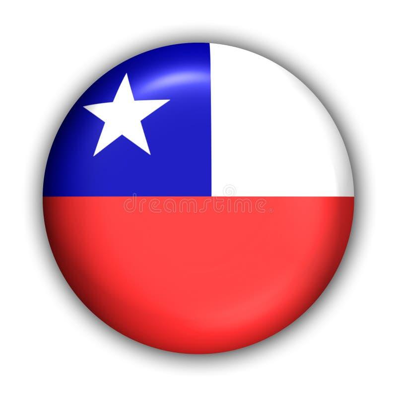 Chile-Markierungsfahne lizenzfreie abbildung