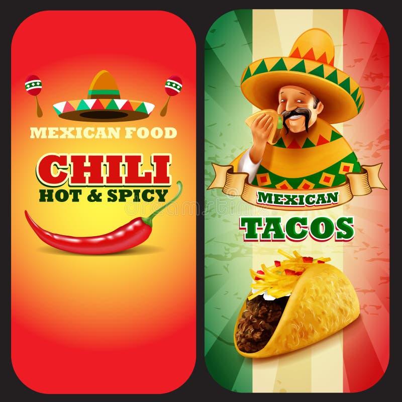 Chile mexicano del MENÚ de los tacos libre illustration