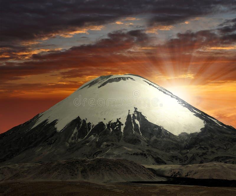 chile parinacota vulcano obrazy stock