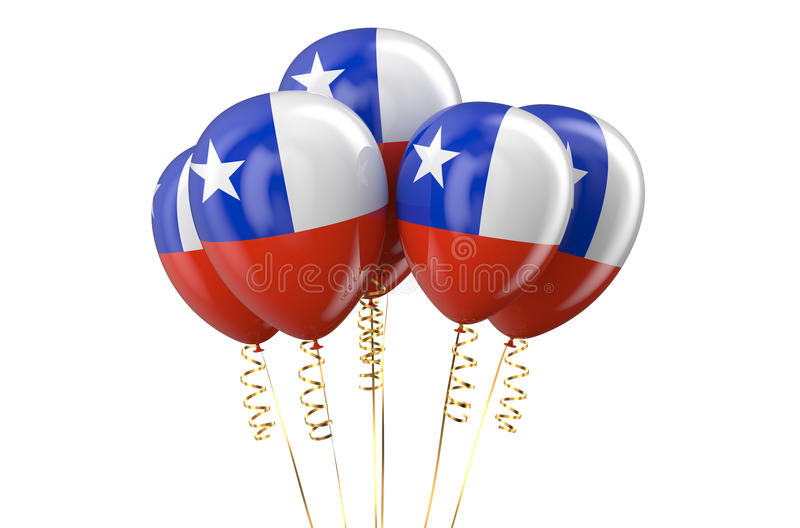 Chile patriotic balloons holyday concept. Chile patriotic balloons, holyday concept vector illustration