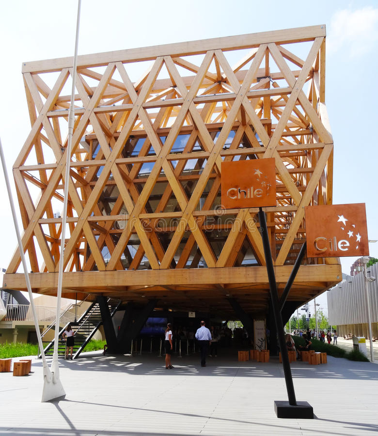 Chile Pavilion - Expo 2015 royalty free stock photos