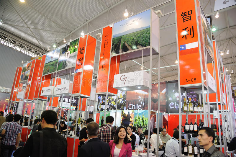 Download Chile wines pavilion editorial photo. Image of advertisement - 30079166