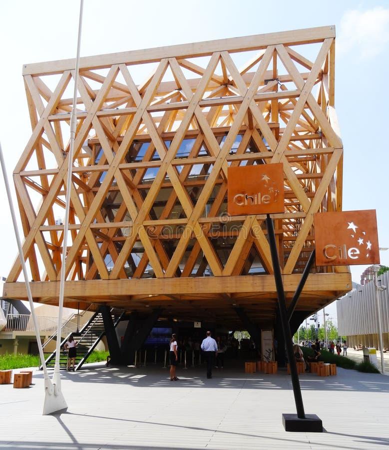 Chile pawilon - expo 2015 zdjęcia royalty free