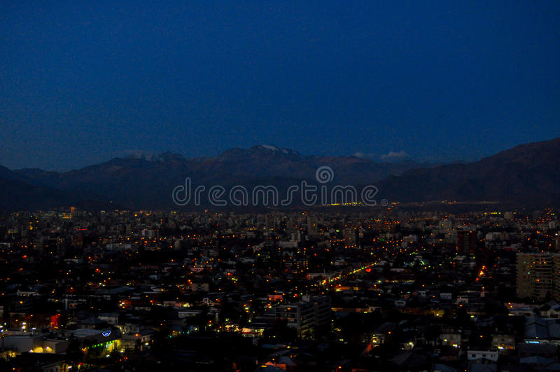 Chile, Santiago de Chile, paisaje urbano foto de archivo