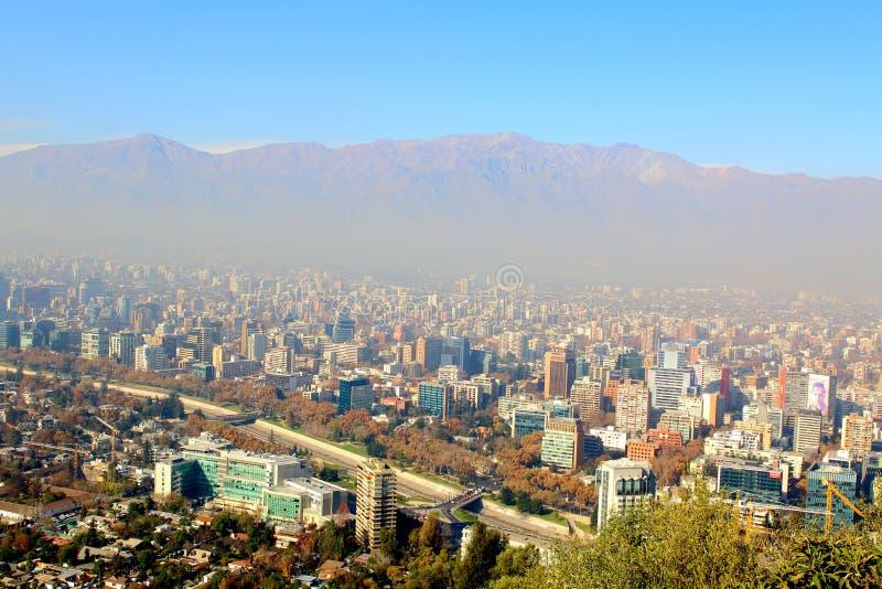 chile Santiago Widok od Cerro San Cristobal zdjęcie royalty free