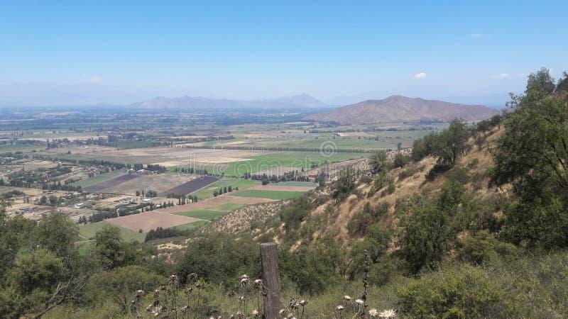 Chile Santiago wzgórza lasowej natury zieleni tereny fotografia royalty free