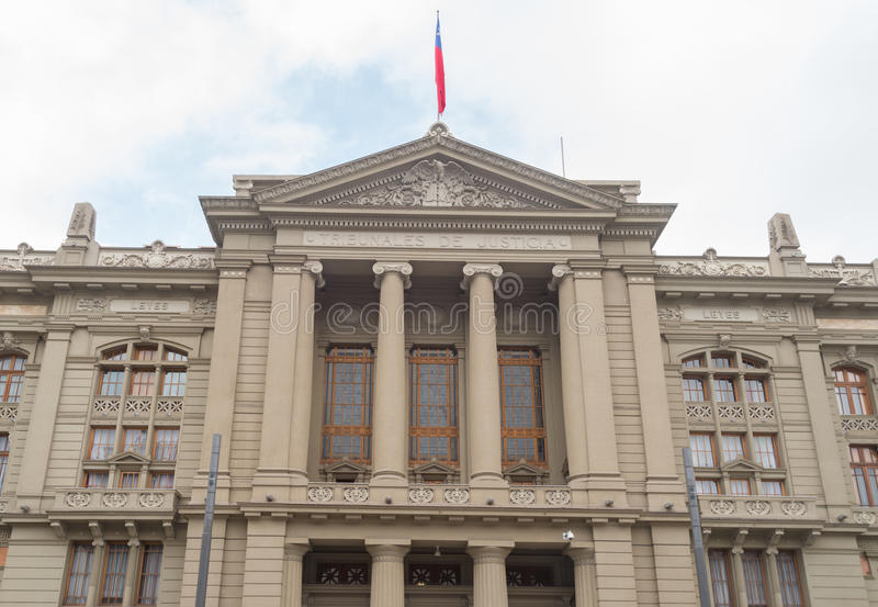 Chile slott av rättvisa i Santiago royaltyfria foton