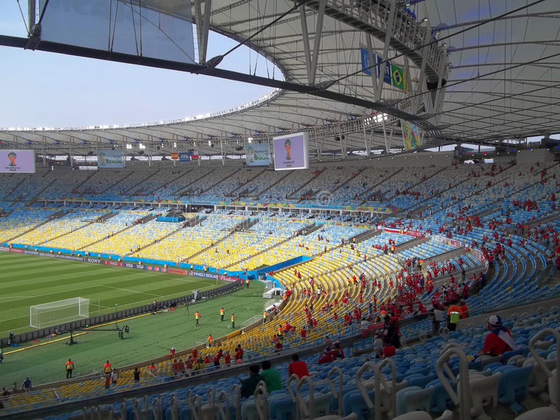 Chile and Spain in Maracanã royalty free stock image