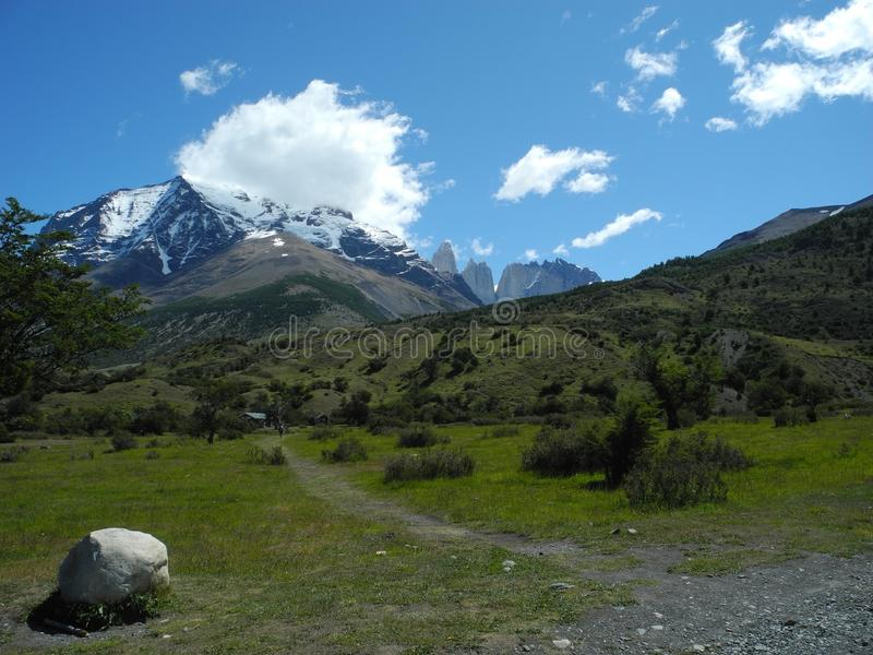 chile torres Del Paine obraz royalty free
