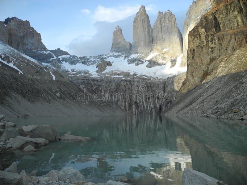 chile torres Del Paine obraz stock