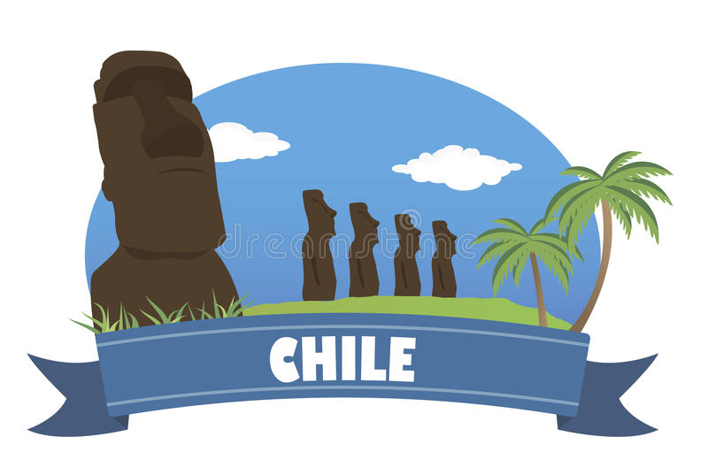 Chile. Tourism and travel royalty free illustration