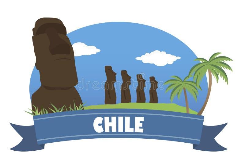 chile Tourismus und Reise lizenzfreie abbildung