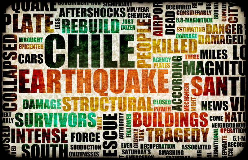 chile trzęsienie ziemi ilustracja wektor