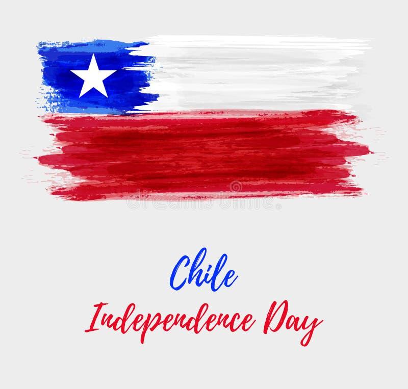 Chile-Unabhängigkeitstaghintergrund lizenzfreie abbildung