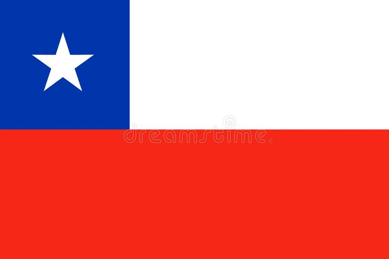 Chile national flag. Vector illustration. Santiago vector illustration