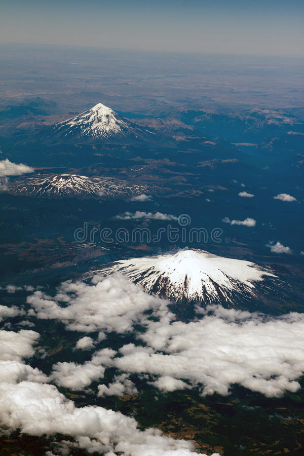 chile volcanoes royaltyfri foto